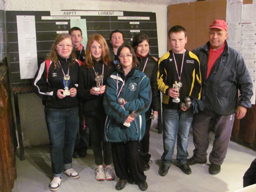 concours de pétanque jeune CD56 FFPJP