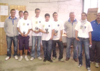 Remise des trophées à nos juniors pétanqueurs