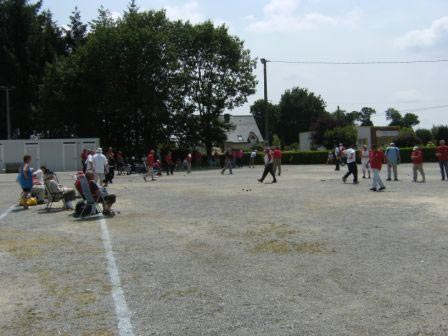 Championnat de pétanque vétéran à Ploëmel St Jean Villenard