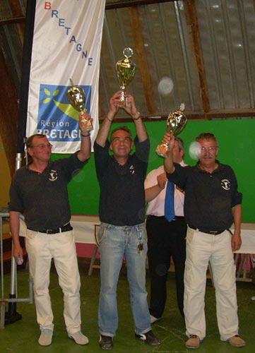 Champions de Bretagne de pétanque triplette 2006