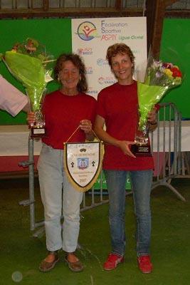 Finalistes du championnat de Bretagne de pétanque Doublette Femme