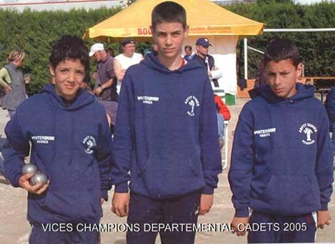 Les finalistes des championnats du Morbihan cadets