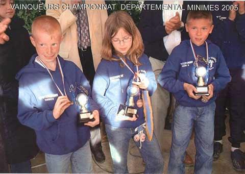 Les champions minimes de l'école de pétanque de Vannes