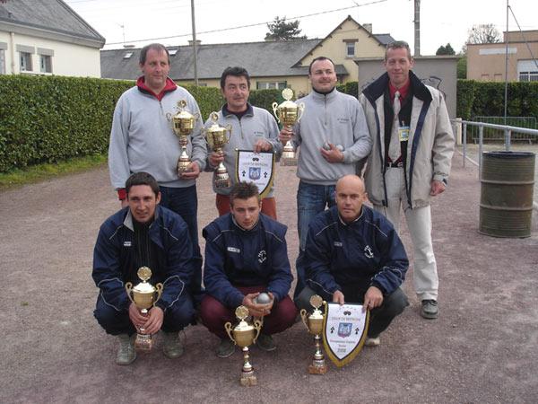 Champions de Bretagne triplette pétanque 2006