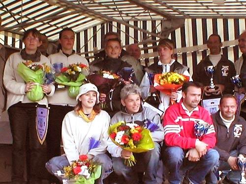 Finalistes des championnats de Bretagne de pétanque à Combrit