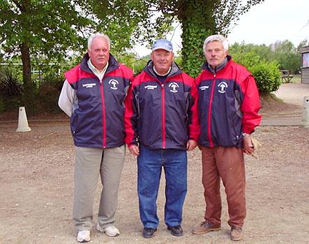Les vannetais de l'ASPTT avant la finale du championnat vétéran