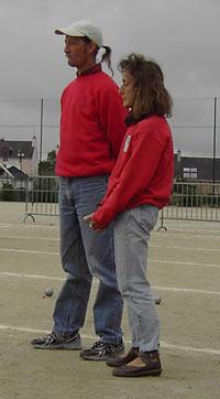 Michel Stéphant et Monique Laronche de la Pétanque Lanestérienne