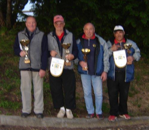 Vainqueurs et finalistes du doublette vétéran 2007 à luscanen
