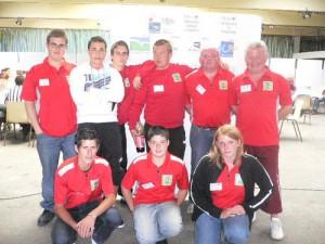L'équipe junior du comité de pétanque du Morbihan