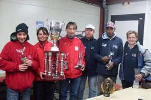 Champions du Morbihan en triplette mixte de la pétanque lanestérienne