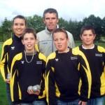 L'équipe jeune du Pétanque Club Mauronnais