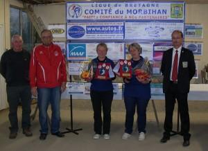 Les championnes de ASPTT Vannes Petanque Guillon Penmellen