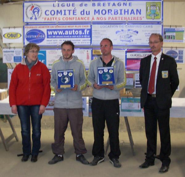 Les champions Nicolas Millet et Damien Thebault de Ploeren