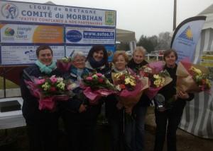 Les championnes de pétanque du Morbihan en 2013