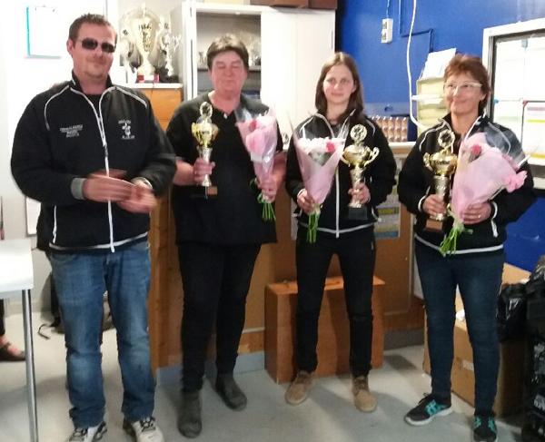 les championnes du Morbihan triplette féminine de Neulliac Plein Fer