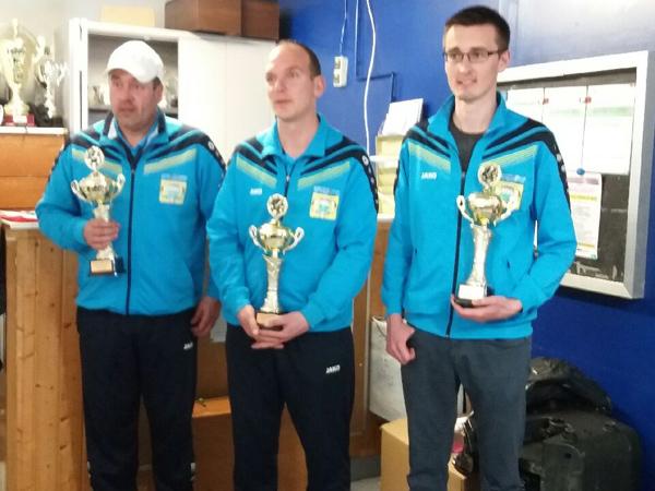 champions du Morbihan triplette 2017 de la pétanque lanestérienne