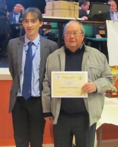 Remise de récompense en CDC3A à Henri Créach du Pétanque Club Ploerinois