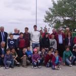 Jeunes et stars à l'inauguration de l'école de pétanque de Larmor Plage