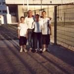 Les jeunes pétanqueurs du morbihan avec le champion tunisien
