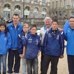 Jeunes du CD56 au Pétanque Tour 2012 avec Julien Lamour et Damien Hureau