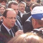 François Hollande avec Marc Alexandre à Rennes