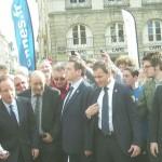 François Hollande essaye la pétanque à Rennes
