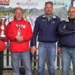 Les quatres pétanqueurs finalistes du championnat du Morbihan doublette 2012
