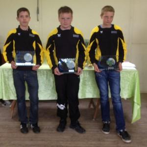 Les champions du Morbihan de pétanque triplette cadet 2012