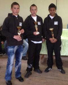 Finalistes cadets 2012 du pétanque club ploerinois