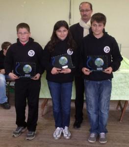 Les champions du Morbihan de pétanque triplette minime 2012