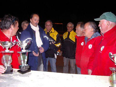 Champions du Morbihan 2012 triplette vétéran pétanque