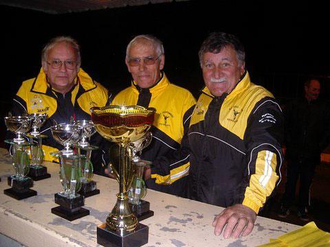 Les vice-champions de pétanque vétéran de la bogue d'Or Questembert