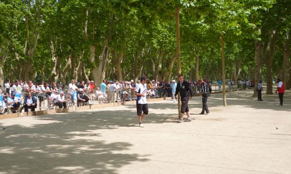 Partie du France individuel à Beaucaire entre Coppola et Sévilla
