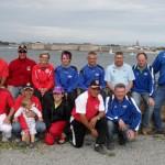 Joueurs du Pétanque Club Larmor Plage et Sérent en coupe du Morbihan