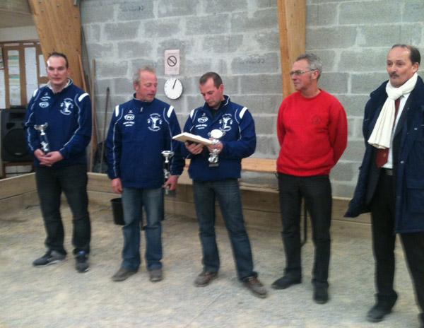 champions du morbihan triplette 2012 de la pétanque pontivyenne