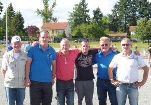 Les morbihannais présents à Roanne lors du France Triplette