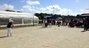 Concours de pétanque pour les féminines à Larmor Plage CD56