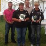 Les gagnantes du concours féminin organisé par le comité de pétanque 56