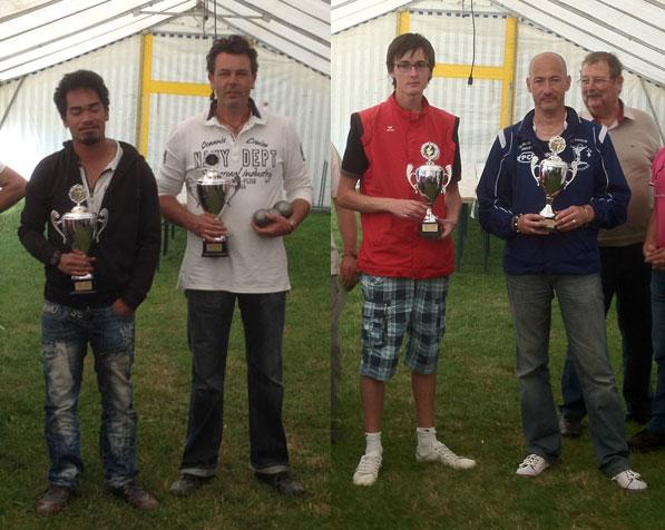 Les finalistes duB de notre régional de pétanque 2012