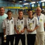 Finalistes de la coupe de l'avenir en cadet 2012 du CD56 Pétanque FFPJP