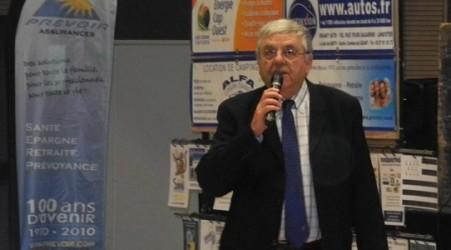 Bernard lors du congrès de Mauron, rempli d'émotion face à l'ovation qu'il y reçu.