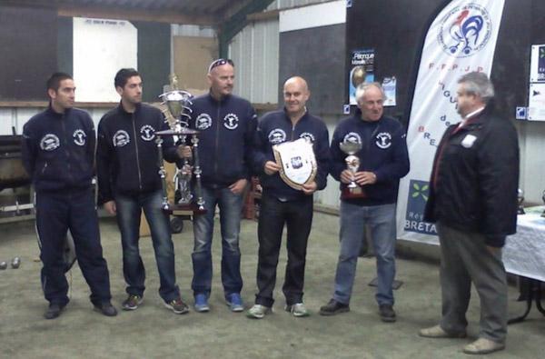 Les carnacois champions de Bretagne de pétanque CRC 2011