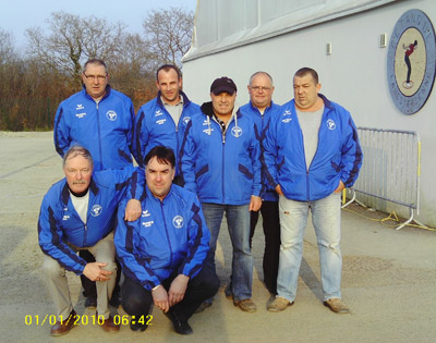 L'équipe de Binic en CRC1 de pétanque à Lanester