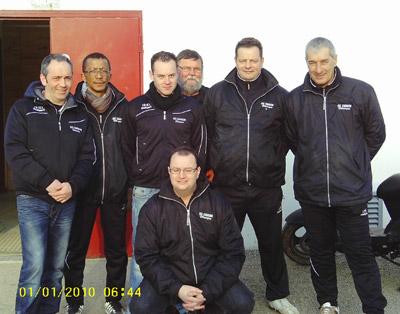 L'équipe de Cesson Sévigné en CRC1 à Lanester