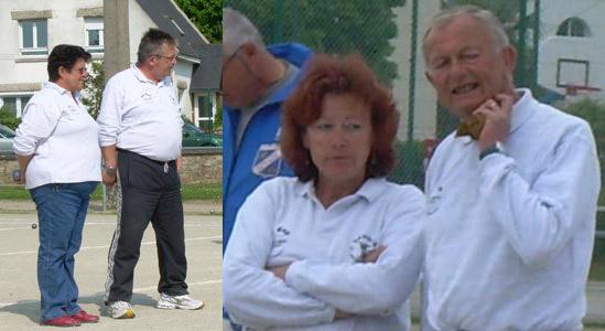 Deux équipes du Vannes Pétanque Club