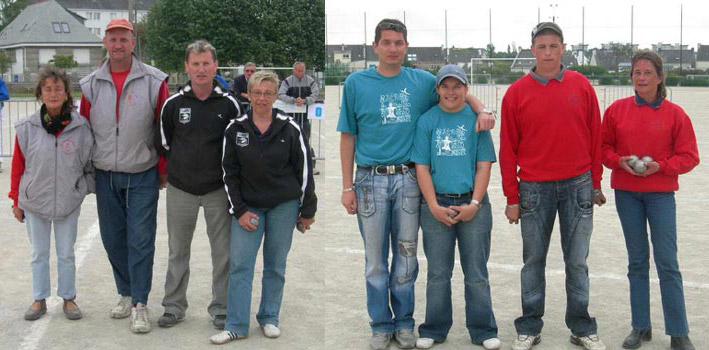 Présentation des demi-finalistes du doublette mixte 2007