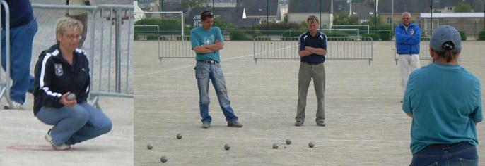 Finale de pétanque au championnat doublette mixte 2007