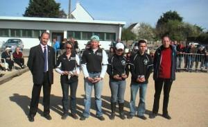 Finalistes du doublette mixte 2009 à Quiberon