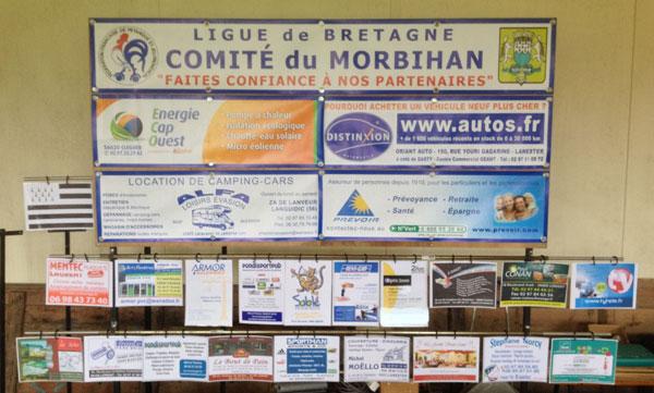 Les partenaires de la pétanque dans le Morbihan