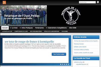 site de pétanque du club de Peillac
